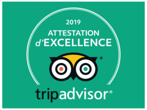 Trip Advisor Attestation d'Excellence